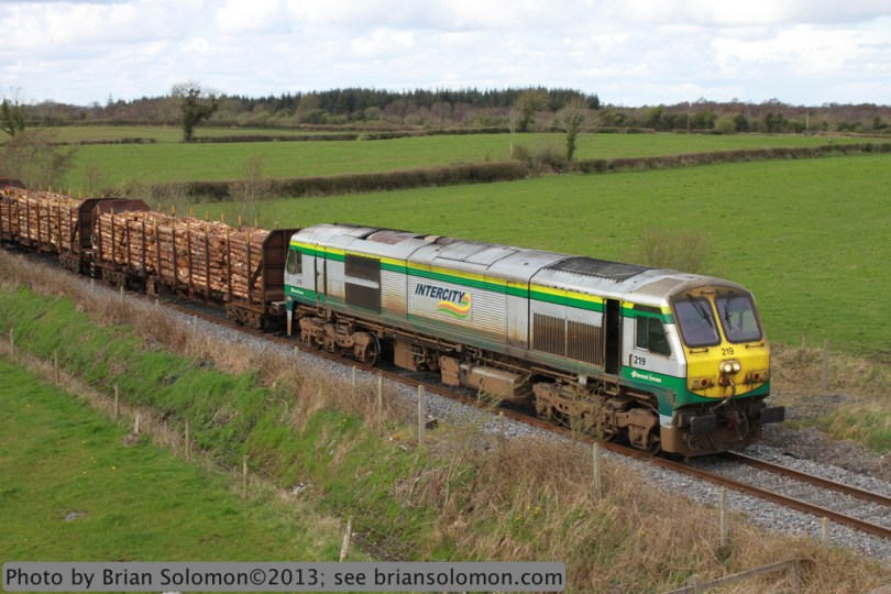 Irish Rail Timber near Portarlington