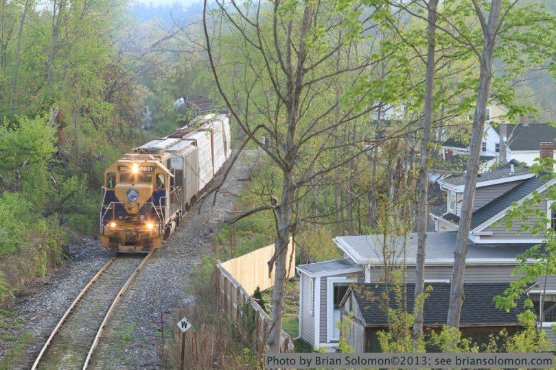 New England Central GP38 in Monson, Mass.