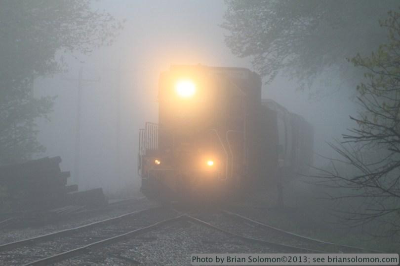 Train in fog.