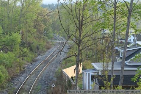 Tracks in Monson, Massachusetts