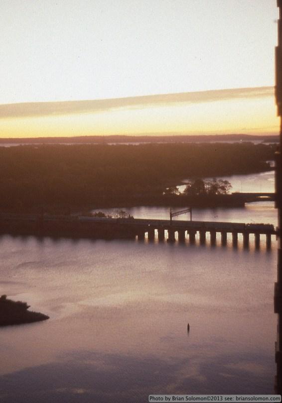 Amtrak at Sunrise