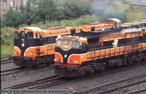 Irish Rail's General Motors diesels at Islandbridge Junction.