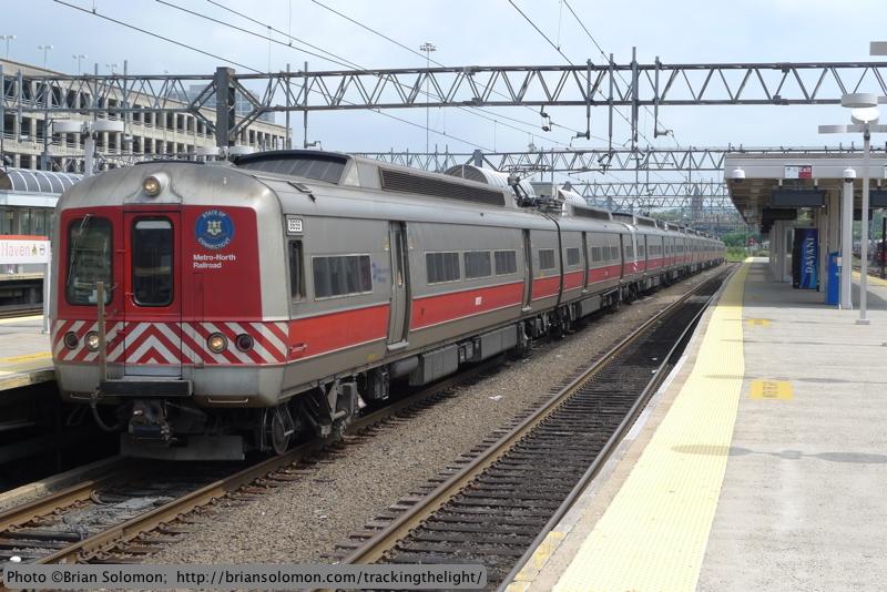 Metro North train at New Haven.