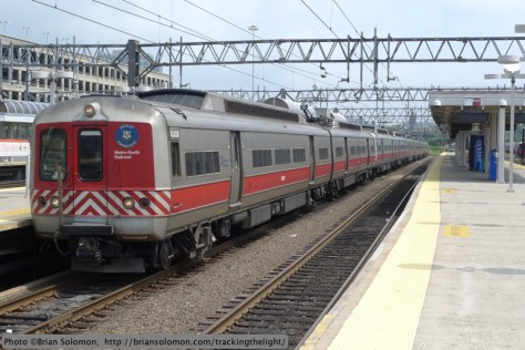 Metro North train at New Haven.