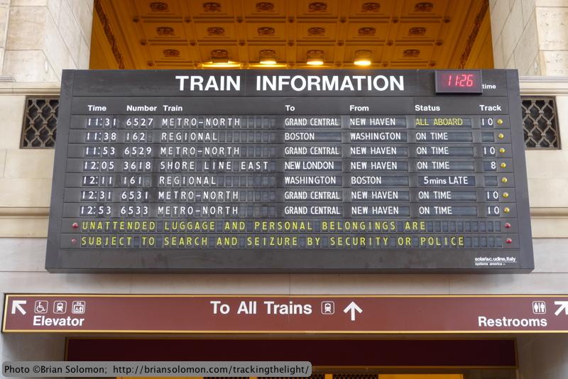 New Haven arrivals-departures.