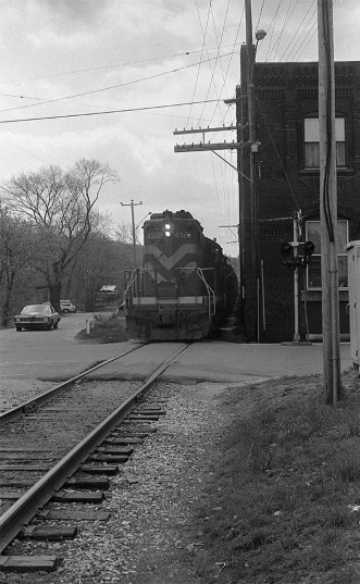 Central Vermont at Stafford Springs, Connecticut in Spring 1984.