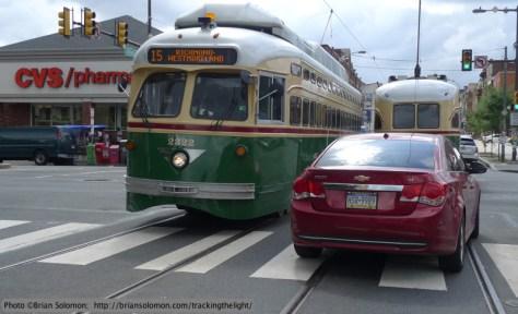 PCC cars in Philadelphia.