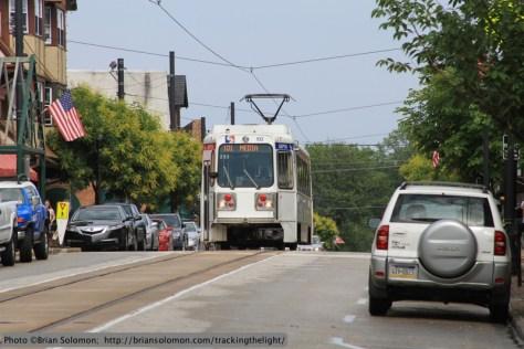 Streetcar at Media, PA.