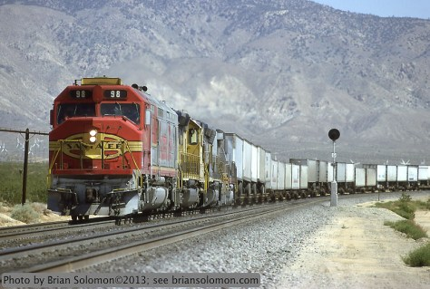 Santa Fe FP45 near Mojave Calif in 1992