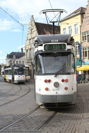 PCC cars in Gent.