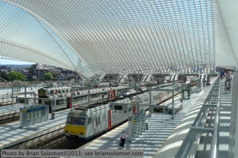 Calatrava designed station at Liege.