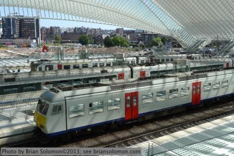 Calatrava designed station at Liege, Belgium.
