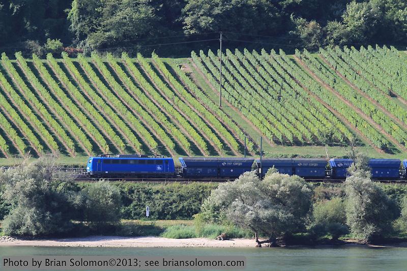 Coal train on the Rhein.