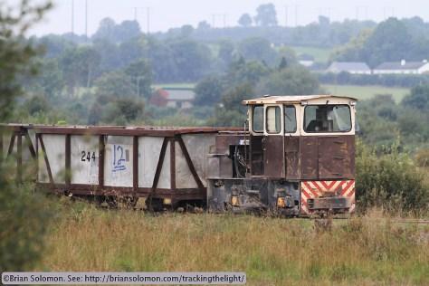 Rare photo of briquette train.
