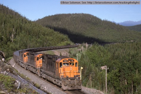 Ore train in Quebec.