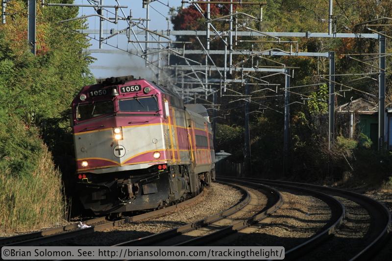 MBTA train.