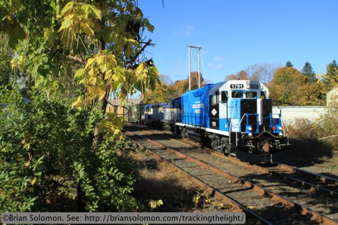 Mass-Central arrives at Ware Yard on October 24, 2013. Canon 7D.