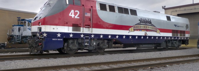 Special Veteran's Day Post: Amtrak Locomotive 42 Honors American Veterans.