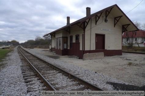 Railway station at Brookfield.