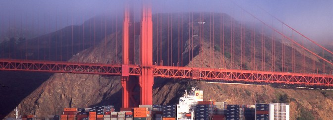 Daily Post: Container Ship at the Golden Gate