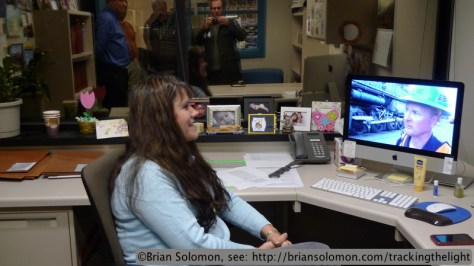 Trains staff watching Editor Jim Wrinn in California with the latest on the Big Boy.