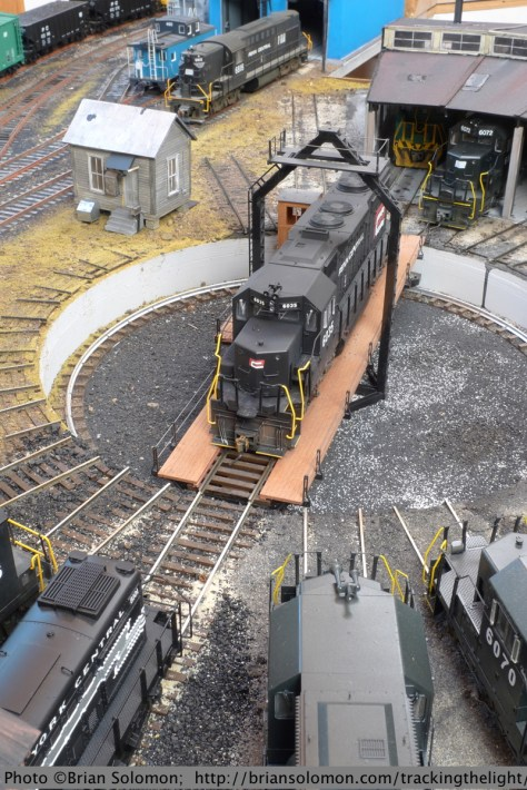 For this view I opted to emulate the lighting on a bright overcast day. Penn-Central black seemed to photograph well on dull days so I went with what worked best on the prototype.