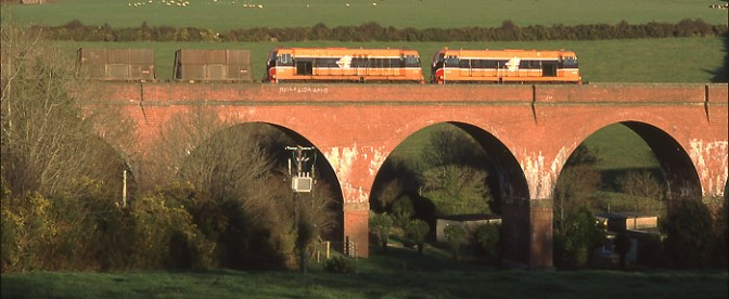 DAILY Post: Irish Rail at Taylorstown Viaduct, December 8, 2001