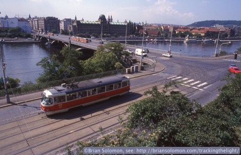 The red and cream Tatras reminded me of my father's adventures photographing PCC cars in Pittsburgh in the early 1960s.
