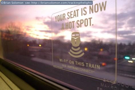 Even the branch train has WiFi.