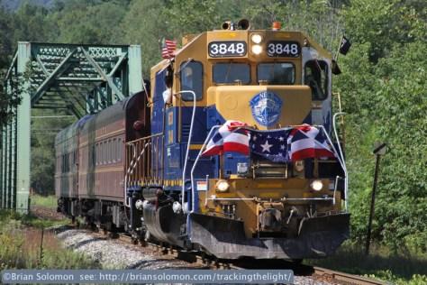 Brian Dubie's campaign train
