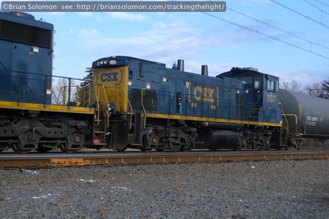 Switchers have become relatively rare items on modern railroads so I made this grab shot of CSXT 1137 as it rolled by. Lumix LX3 photo.