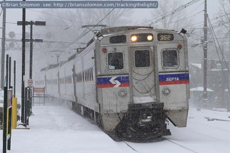 SEPTA in snow
