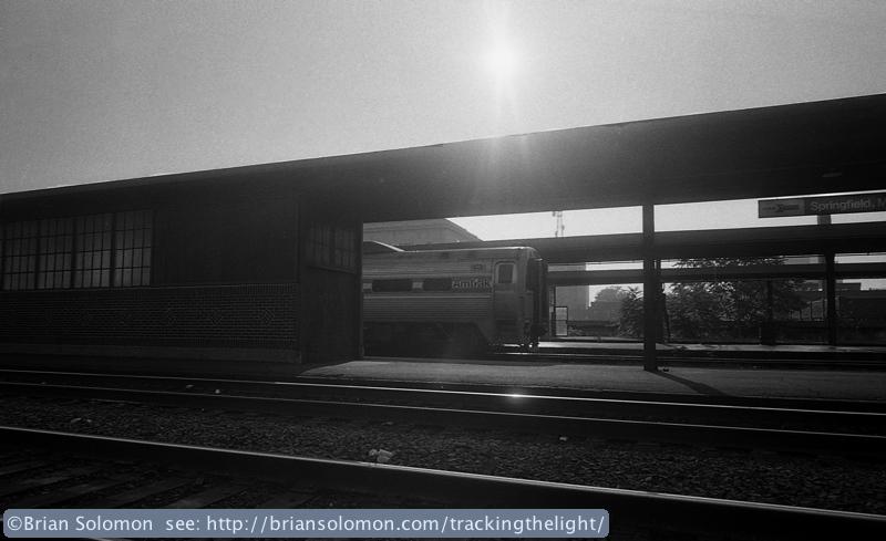 Amtrak at Springfield Station.