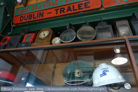 Mixed in with ephemera from long closed Irish lines is a Conrail hard hat. Hooray!