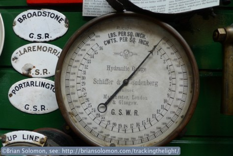 Steam gauges, old badges, photos, and signaling apparatus and diagrams are among the many items on display.
