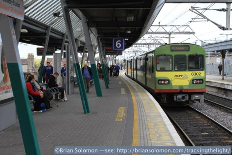 Platform 6 at Connolly Station.