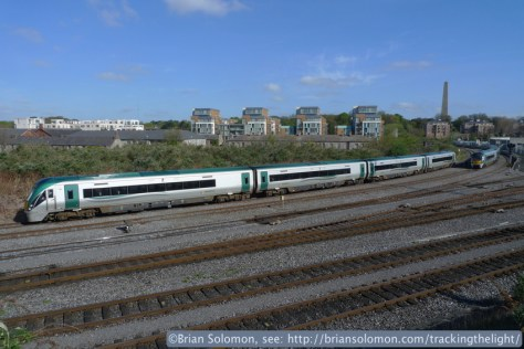 Irish Rail 22000-series Intercity Railcars make a daily transfer at Islandbridge Junction on the morning of April 19, 2014. It was here that I photographed Irish Rail's elusive Sperry Train back on August 30, 2012.
