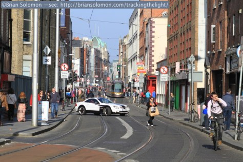 Looking east on Abbey Street in Dublin, April 25, 2014.