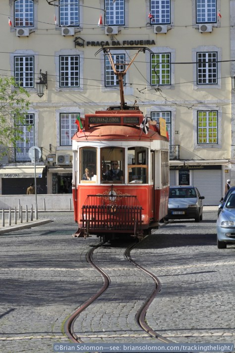 The red trams worked a tourist route. Canon EOS 7D.