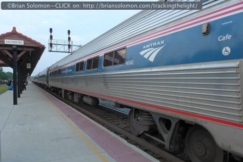 Amtrak 79 Carolinian at Salisbury, North Carolina on the former Southern Railway. Lumix LX3 photo.