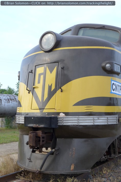 Nose view of General Motors FT 103. I'd argue that this was probably the most significant locomotive in the 20th Century. Read about it in my American Diesel Locomotive and EMD Locomotives. Books on the history of American diesels.