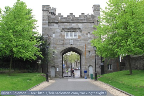 Old stone gate at Kilmainham, May 2014. Canon EOS 7D photo.