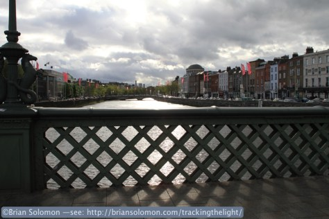 River Liffey from Essex Bridge at Capel Street.