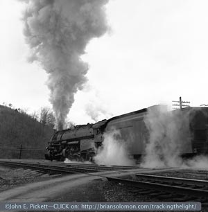 Norfolk & Western steam in the 1950s as photographed by John E. Pickett. Dozens of John's photos are featured in The Twilight of Steam.