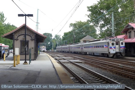 SEPTA Silverliners meet at Overbrook on July 2, 2014. Lumix LX7 photo.