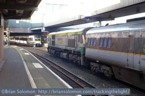 While we walked around Belfast, locomotive 231 made a round trip to Dublin with the Enterprise. More than six hours after we left the train, it was back again waiting to take us up to Dublin.
