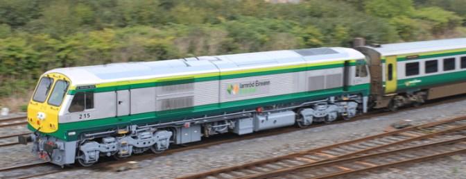 Special Post: Thursday September 18, 2014: Irish Rail 215 works Mark4 set.