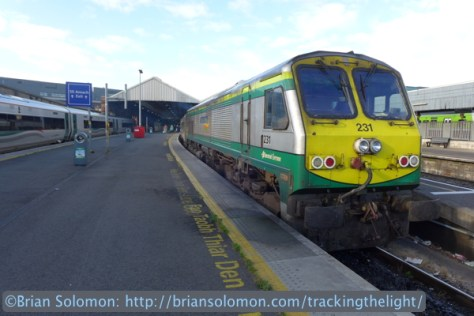 In long standing tradition, I walked to the top of the platform for a photo of the train before boarding. LX7 Photo.