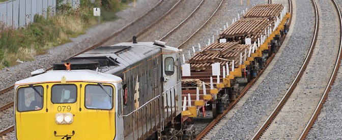 Irish Rail: Action on the Quad Track at Clondalkin.
