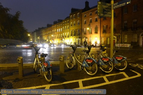 Parnell Square in the rain on Culture Night. Lumix LX7 photo.